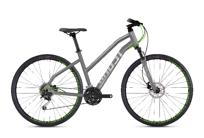GHOST SQUARE Cross 2.8 AL W Urban grey PALLSILVER Neon green 2018 - Damen 28 -