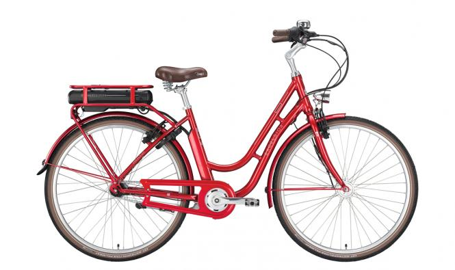 Excelsior Swan Retro E ruby red