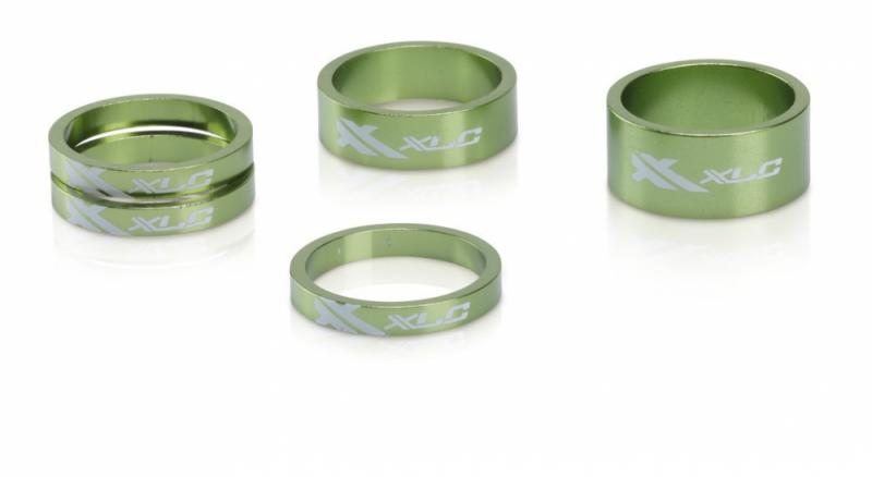 XLC A-Head Spacer-Set AS-A02 3 x 5 1 x 10  1 x 15 1 1/8 limegreen Auswahl