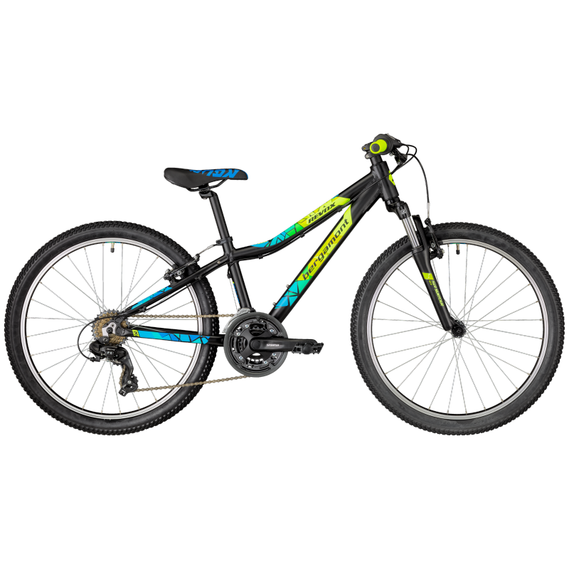Bergamont Revox 24 Boy black/neon yellow/cyan (matt) 2018