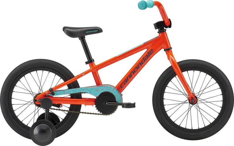 Cannondale Kids 16 SINGLE-SPEED BOY'S FW ARD OS Acid Red w/ Slate, Turquoise, and Nitro 2018