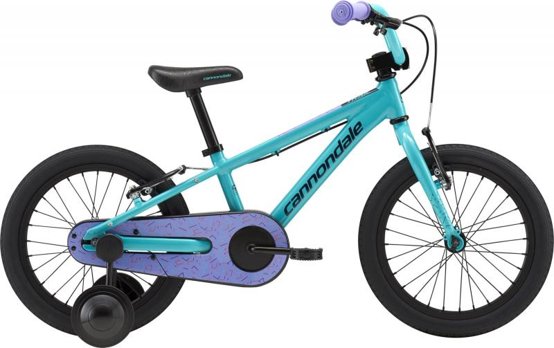 Cannondale Kids Trail 16 SINGLE-SPEED GIRL'S FW TRQ OS Turquoise w/ Violet Tonic, Hazard Orange and Midni 2018