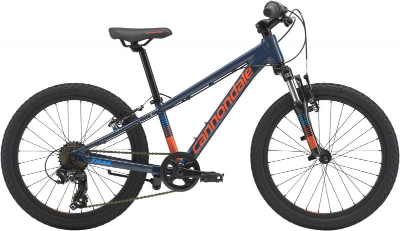 Cannondale Kids Trail 20 BOY'S SLA OS Slate w/ Hazard Orange and Aqua, Gloss 2018