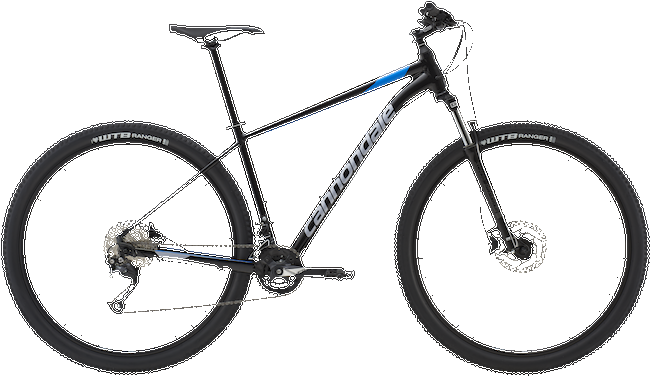 Cannondale Trail 7 BLK Black Pearl w/ Electric Blue and Stingray ? Gloss