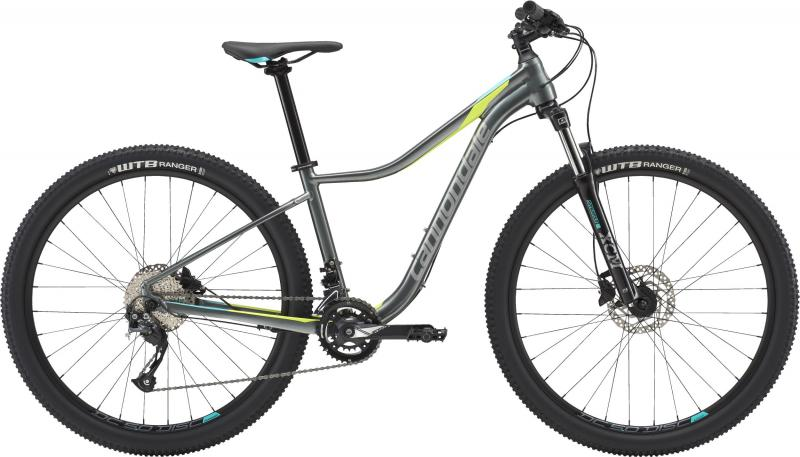 Cannondale Trail WOMEN'S 3 GRY Charcoal Gray w/Fine Silver, Turquoise and Volt -  2018