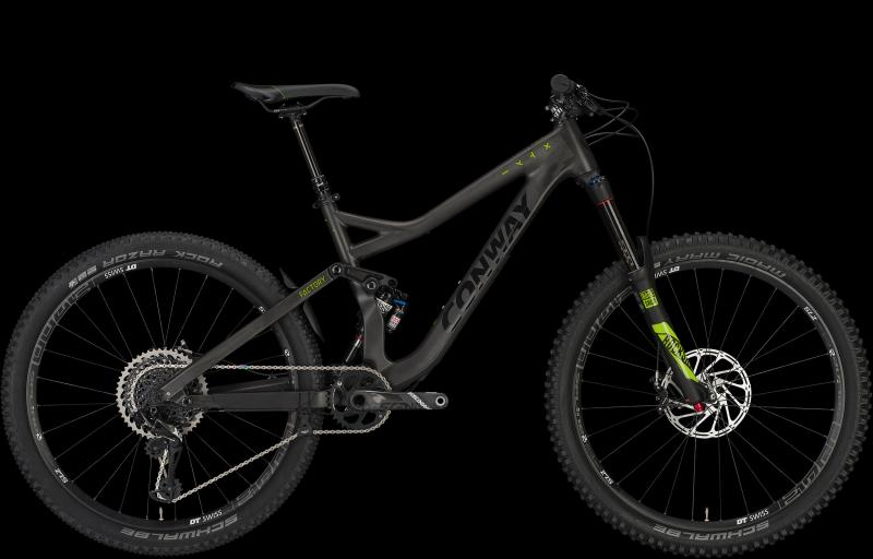 Conway WME 27 FACTORY carbon/lime 2018 - Diamant 27,5 -