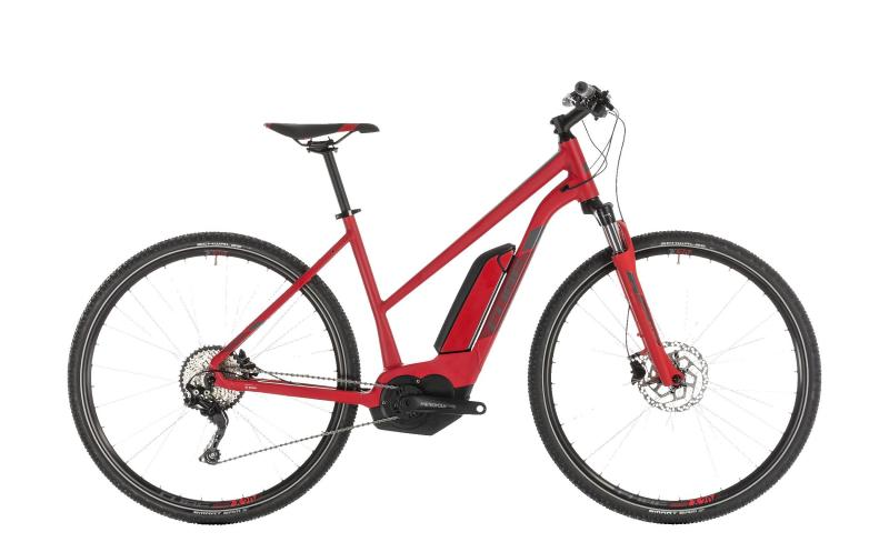 Cube Cross Hybrid Pro 500 red´n´grey 2019 - Trapeze Lady 28 -