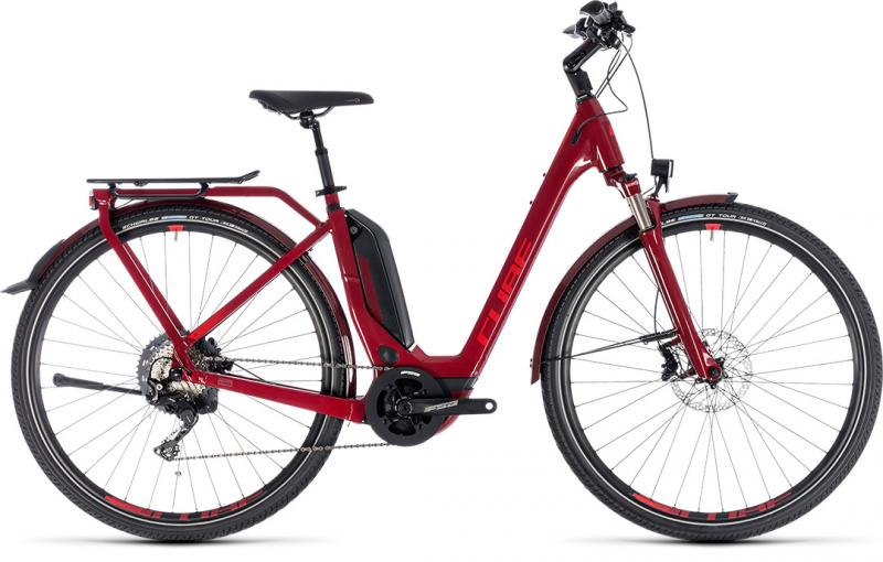 Cube Touring Hybrid EXC 500 darkred´n´red 2018 - Easy Entry 28 -
