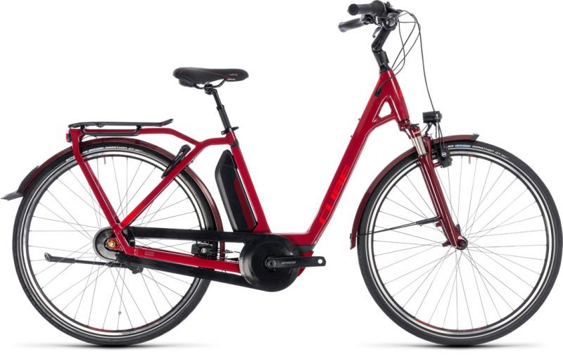 Cube Town Hybrid Pro 500 darkred´n´red 2018 - Easy Entry 28 -
