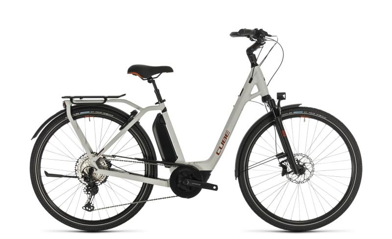 Cube Town Sport Hybrid EXC 500 - Easy Entry -  grey´n´red 2020