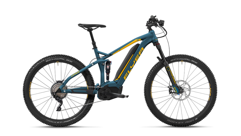 Flyer Uproc4 4.10 FS Blau/Gelb - Full Suspension - Azurblau/Goyagelb L