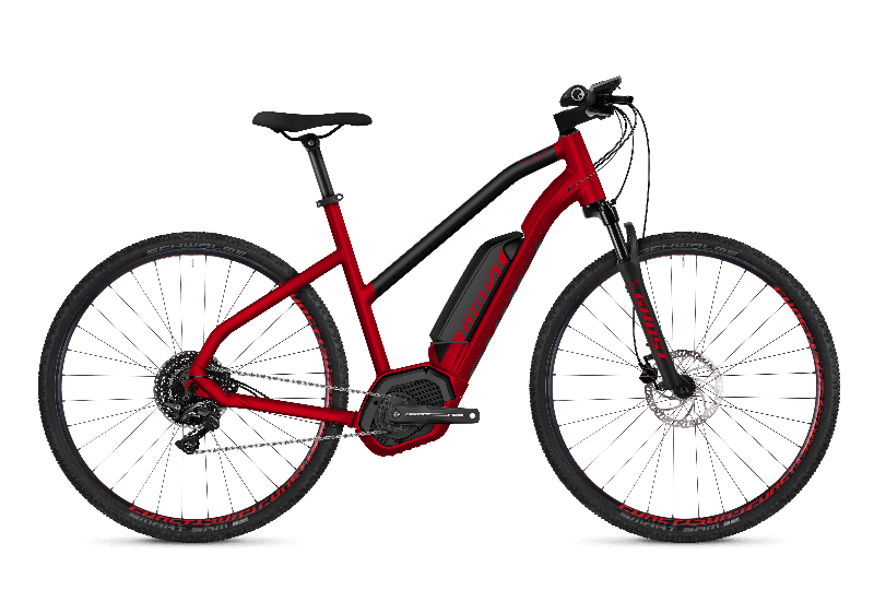 GHOST Hybride SQUARE Cross B4.9 AL W Riot red NIGHTBLACK - 2018