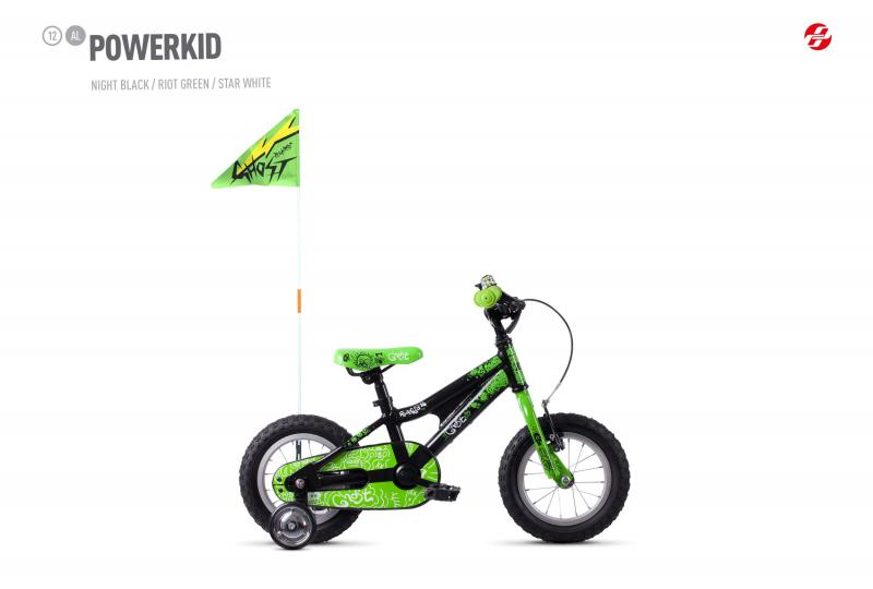 GHOST POWERKID AL 12 K - 12 -  night black / riot green / star white 2019