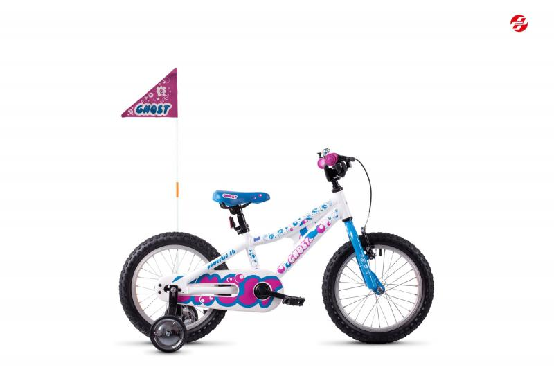 GHOST POWERKID AL 16 K - 16 -  star white / riot blue / dark fuchsia pink 2019