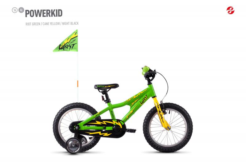 GHOST POWERKID AL 16 K riot green / cane yellow / night black 2020 16