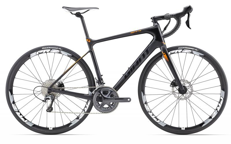 Giant Defy Advanced 1 LTD Carbonblack-Raceorange Matt-Gloss 2017