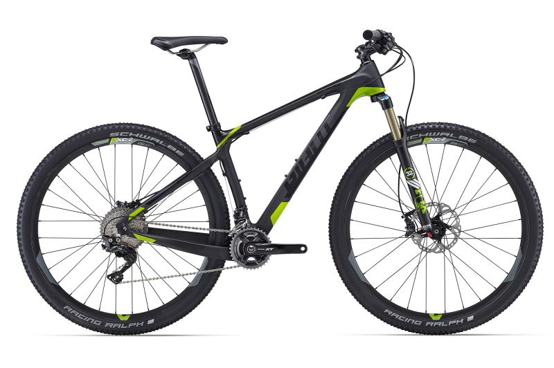 Giant XtC Advanced 29er 1 Carbonblack-Dragongreen Matt-Gloss 2016 L
