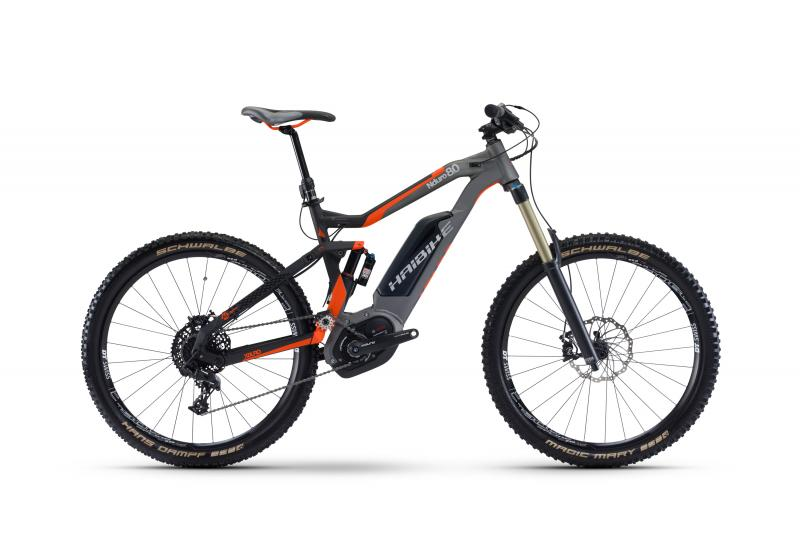 Haibike XDURO NDURO 8.0 - MTB Fully -  Schwarz/Titan/Orange matt 2017