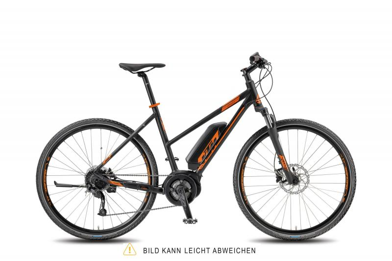 KTM MACINA CROSS 9 A4 DA black matt (orange) 2018