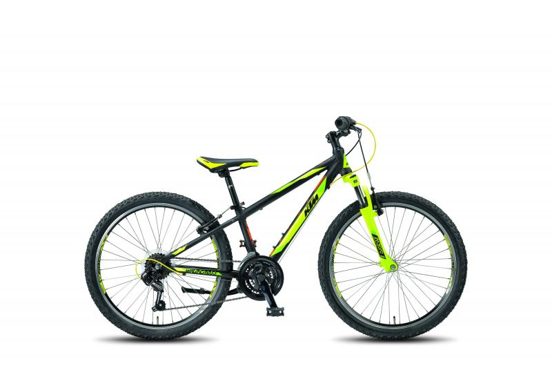 KTM WILD CROSS 24.18 MTB black matt (n-yell green orange) 2018