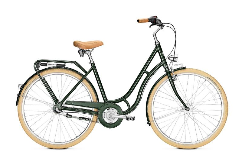Kalkhoff CITY CLASSIC 3R - 26 Classic  Wh -  moosgreen glossy 2019