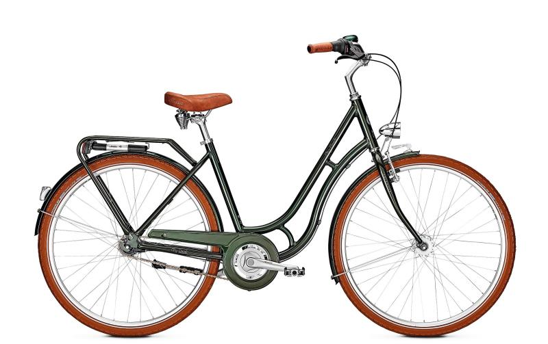 Kalkhoff CITY CLASSIC 7R - 28 Classic  Wh -  moosgreen glossy 2019