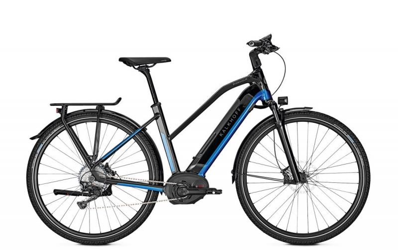 Kalkhoff ENDEAVOUR 5.B EXCITE - 28 Trapez 482 Wh -  magicblack/pacificblue glossy 2019