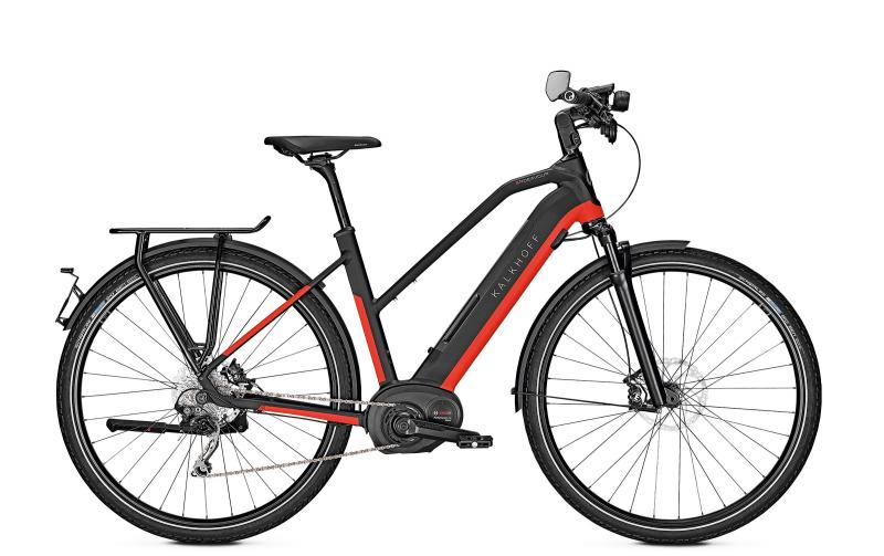 Kalkhoff ENDEAVOUR 5.B MOVE 45 - 28 Trapez 482 Wh -  magicblack/firered glossy 2019