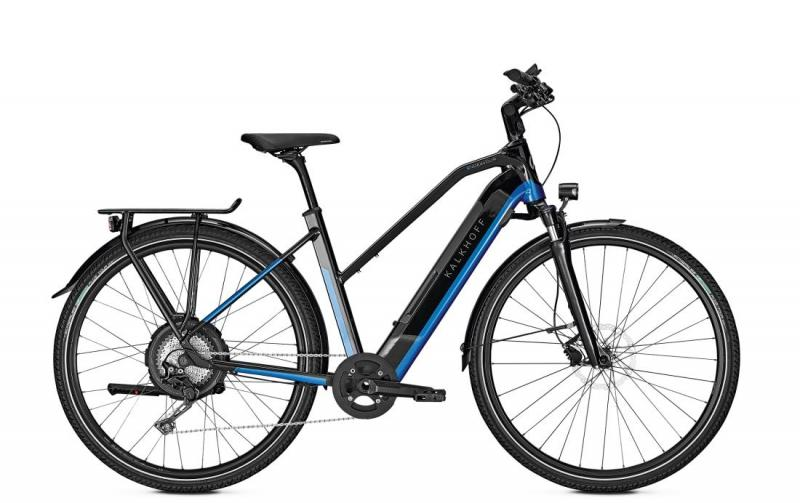Kalkhoff ENDEAVOUR 5.N MOVE - 28 Trapez 497 Wh -  magicblack/pacificblue glossy 2019