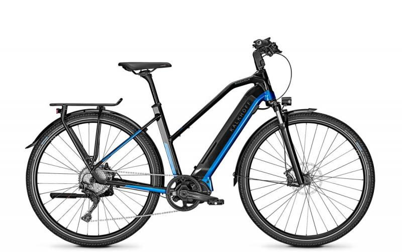 Kalkhoff ENDEAVOUR 5.S EXCITE - 28 Trapez 540 Wh -  magicblack/pacificblue glossy 2019