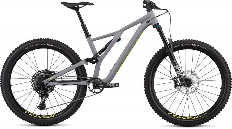 Specialized Men's Stumpjumper Comp Alloy 27.5 - 12-speed - 27.5 -  Satin Cool Grey / Team Yellow 2019