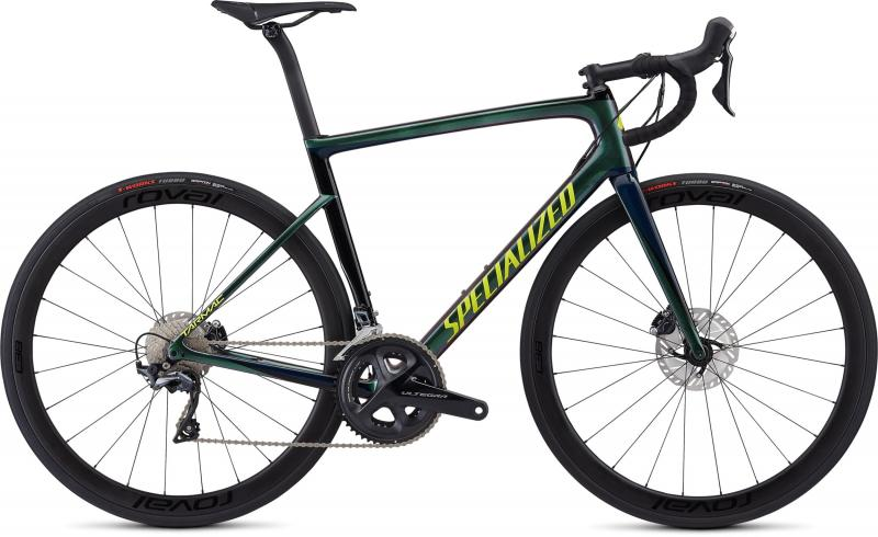 Specialized Men's Tarmac Disc Expert - 28 - Chameleon Green/Cast Blue/Tarmac Black/Team Yellow 54