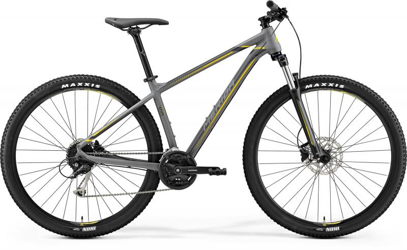 Merida BIG.NINE 100 - 29 -  MATT GREY(YELLOW/DARK GREY) 2019