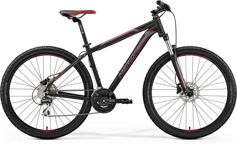 Merida BIG.SEVEN 20-D - 27.5 -  MATT BLACK(RED/SILVER) 2019