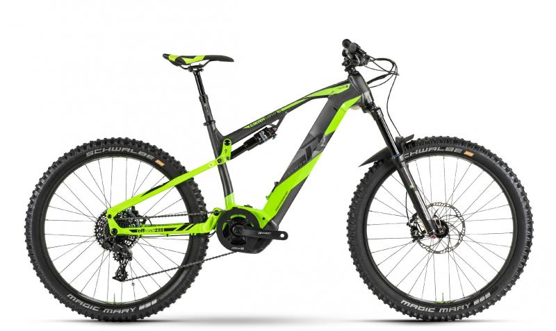Raymon E-Seven TrailRay 10.0 - MTB Full Suspension 27,5 -  dark grey/green/black 2019