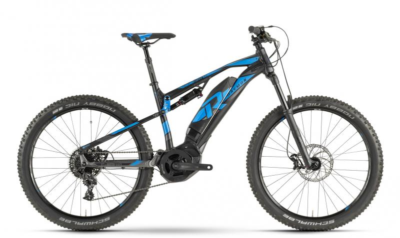 Raymon E-Seven TrailRay 7.0 black/blue/dark grey 2019 - MTB Full Suspension 27,5 -  44