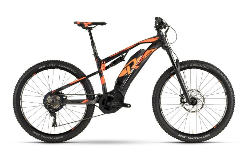 Raymon E-Seven TrailRay 8.0 - MTB Full Suspension 27,5 -  black/orange/dark grey 2019