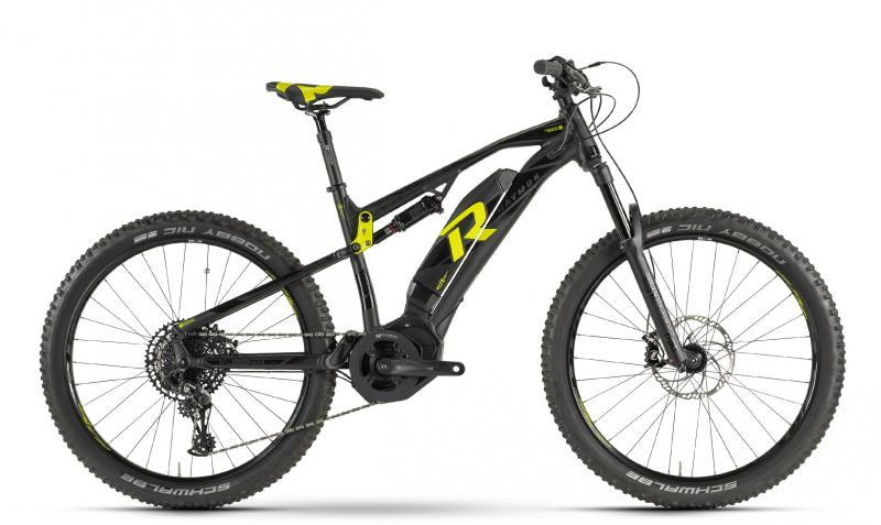 Raymon E-Seven TrailRay 9.0 - MTB Full Suspension 27,5 -  black/yellow 2019
