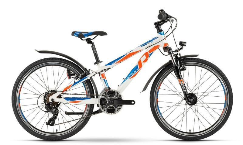 Raymon Fourray 1.0 Street - Jugendrad 24 -  white/blue/orange 2019