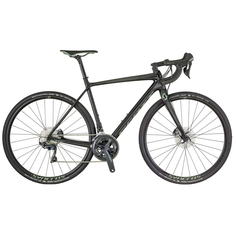 Scott Addict Gravel 20 disc - 28 - BLACK / ANTHRACITE / GREEN L