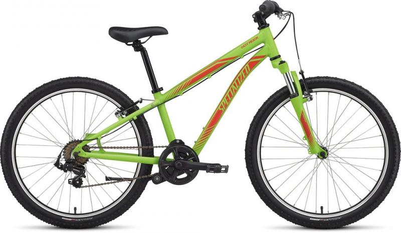 Specialized Boy's 7-Speed Hotrock 24 Monster Green/Nordic Red 2017