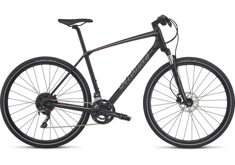 Specialized CrossTrail Elite Carbon Silver Tint/Graphite/Nordic Red Reflective 2018