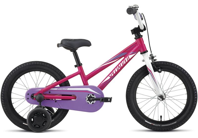 Specialized Hotrock 16 Coaster Girls Hot Pink/Purple/Sparkle White 2017 16