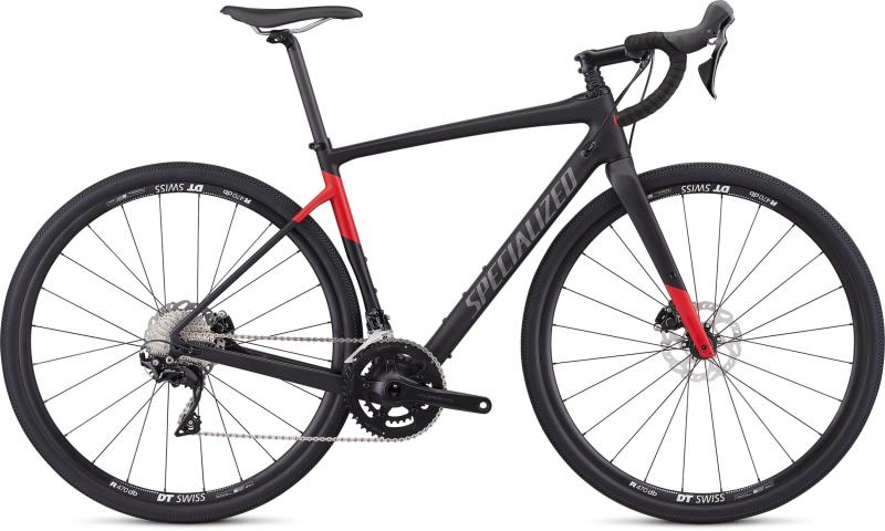 Specialized Men's Diverge Sport - 28 -  Satin Tarmac Black/Flo Red 2019