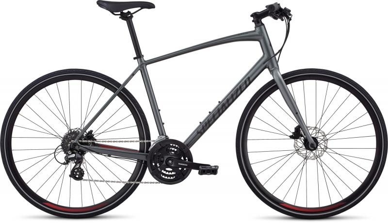 Specialized Men's Sirrus - 28 -  Charcoal/Candy Red/Black Reflective 2019