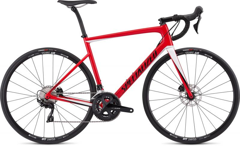 Specialized Men's Tarmac Disc Sport - 28 -  Gloss Flo Red/Metallic White Silver/Tarmac Black 2019