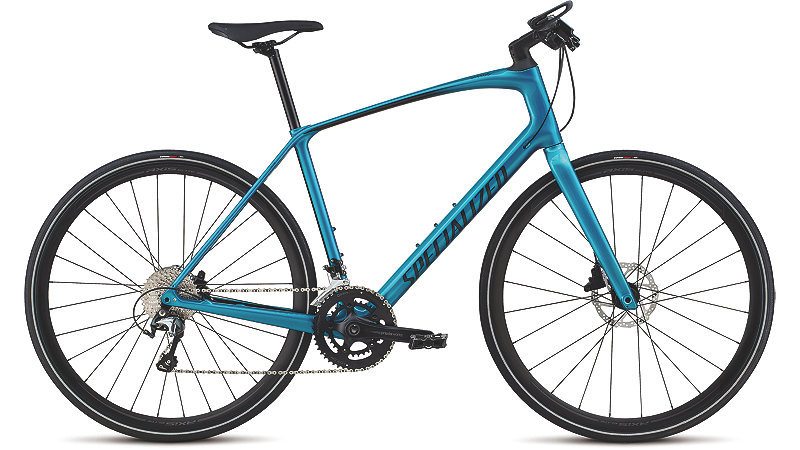 Specialized Specialized Men's Sirrus Elite Carbon Teal Tint/Black/Black Reflective 2018 L