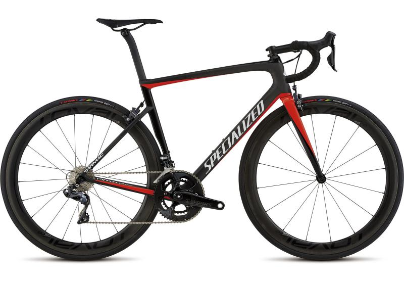 Specialized Men's Tarmac Pro Carbon Gloss Rocket Red/Tarmac Black/Metallic Whit 2018