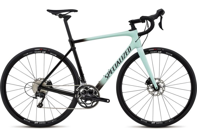 Specialized Roubaix Elite Gloss Mint/Tarmac Black Fade/Black Reflective Clea 2018