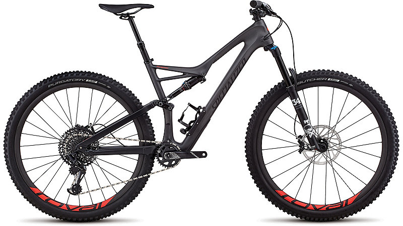 Specialized Stumpjumper Expert 29/6Fattie Satin Silver Tint Carbon/Black/Rocket Red Clean 2018